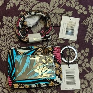 NWT Vera Bradley Campus Double ID and Lanyard